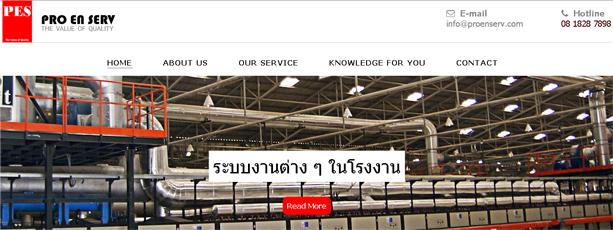 รับทำเว็บไซต์ www.proenserv.com